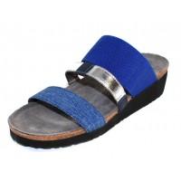 Naot Women's Brenda In Electric Blue Stretch/Blue Melange/Light Silver Stretch/Polar Sea Leather