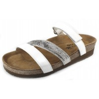 Naot Women's Columbus In White Pearl Leather/Multi Rivets