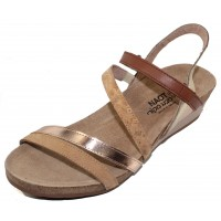 Naot Women's Hero In Nude Nubuck/Rose Gold Leather Combo