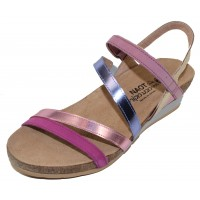 Naot Women's Hero In Pink Plub Nubuck/Pink Mirror Leather Combo