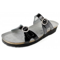Naot Women's Kate In Black Luster Leather