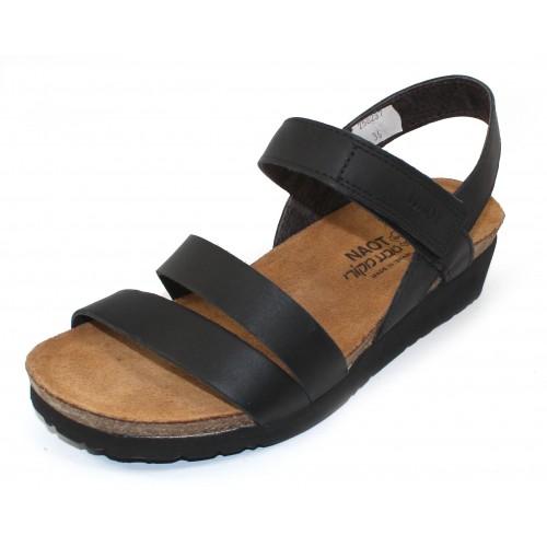 Naot Women's Kayla Wide In Black Matte Leather