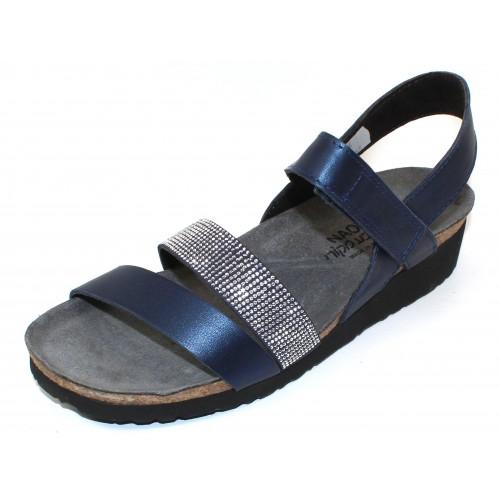 Naot Women's Krista In Polar Sea Leather/Dark Blue/Nickel Rivets