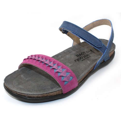 Naot Women's Mable In Oily Blue Nubuck/Pink Plum Nubuck/Vintage Blue Leather