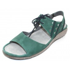 Naot Women's Mangere In Oily Emerald/Teal Nubuck