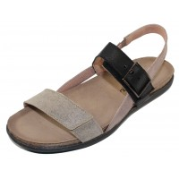 Naot Women's Norah In Speckled Beige Leather/Stone Nubuck/Soft Black Leather