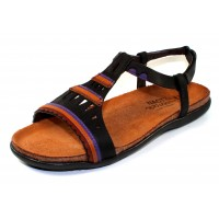 Naot Women's Odelia In Oily Coal Nubuck/Purple Leather