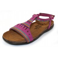 Naot Women's Odelia In Pink Plum Nubuck/Vintage Slate Leather