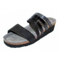 Naot Women's Peyton In Oily Coal Nubuck/Black Crackle Leather/Madras Leather/Jet Black Leather/Brushed Black Leather