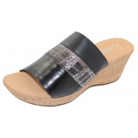 Naot Women's Tiki In Black Madras/Mixed Metallic/Soft Black Leather