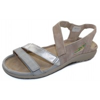 Naot Women's Whetu In Grey Linen/Soft Silver Leather/Sand Stone Suede