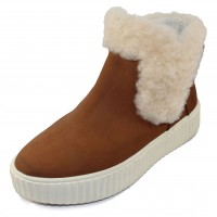 Pajar Women's Clia In Tan Nubuck/White Shearling