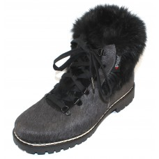 Pajar Women's Forrest In Charcoal Cow Haircalf/Rabbit Fur