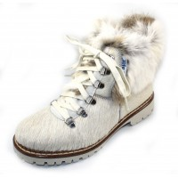 Pajar Women's Forrest In White Cow Haircalf/Spot Rabbit Fur