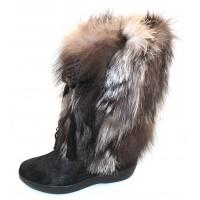 Pajar Women's Fox Trot In Black/Silver Fox/Haircalf