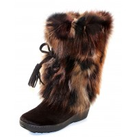 Pajar Women's Fox Trot In Brown Goat/Fox