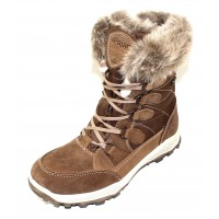 Pajar Women's Kelsey In Cuoio Suede/Nylon/Beige Rabbit Fur