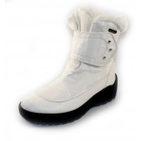Pajar Women's Moscou 2 In White Waterproof Nylon/Leather