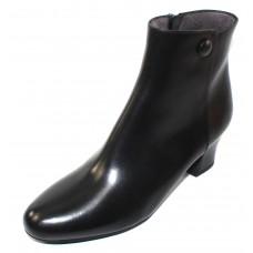 Pas De Rouge Women's Alfa 1924 In Black Waterproof Idro Calf Leather