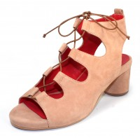 Pas De Rouge Women's Chantal 1232 In Cialda Nude Suede