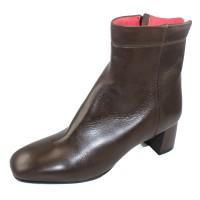 Pas De Rouge Women's Chantal 2446 In Fango Taupe Nappa Leather