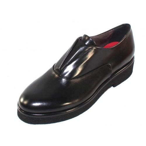 Pas De Rouge Women's Cleojuan R329 In Black Waterproof Idro Calf Leather/Elastic