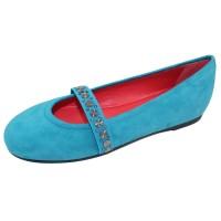 Pas De Rouge Women's Dafne 1639 In Light Blue Nappa Leather