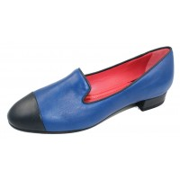 Pas De Rouge Women's Daria 2185 In Denim/Navy Blue Nappa Leather