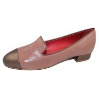 Pas De Rouge Women's Daria 2185 In Onice/Bronze Nappa Leather