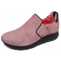 Pas De Rouge Women's Dixie 2062B In Old Pink Suede/Black Nappa Leather