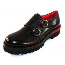Pas De Rouge Women's Elvira 1414 In Black Waterproof Indiro Calf Leather