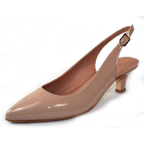 Pas De Rouge Women's Janet 1103 In Cialda Nude Patent Leather