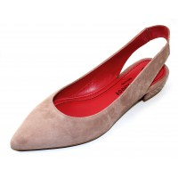 Pas De Rouge Women's Janet 2212 In Onice Tan Suede