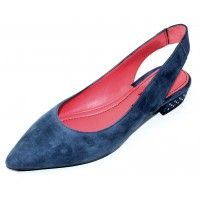 Pas De Rouge Women's Janet 2212 In Prussia Blue Suede