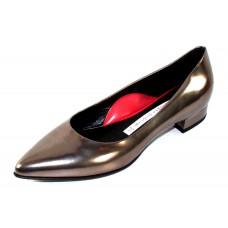 Pas De Rouge Women's Janet R216 In Rutaino Gunmetal Metallic Leather