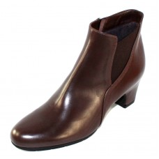 Pas De Rouge Women's Lucia M623 Wp In Mid Brown Waterproof Idro Calf Leather