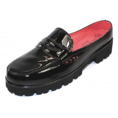 Pas De Rouge Women's Marta 1511 In Black Patent Leather