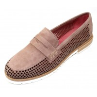 Pas De Rouge Women's Marta 2297 In Onice Tan Suede