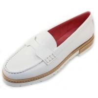 Pas De Rouge Women's Marta 2932 In Bianco White Evoque Leather
