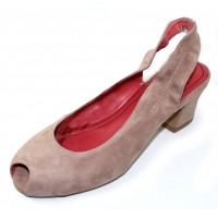 Pas De Rouge Women's Milly 2353 In Onice Tan Suede