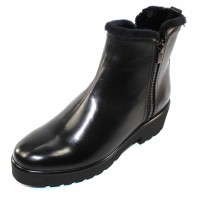 Pas De Rouge Women's Nora 1995 In Black Waterproof Indro Leather