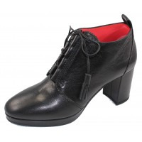 Pas De Rouge Women's Shirley 2032 In Black Leather