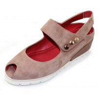 Pas De Rouge Women's Silvia 2364 In Onice Tan Multi Suede