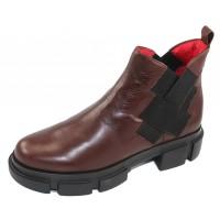 Pas De Rouge Women's Velar 2624 In Brown Nappa Leather