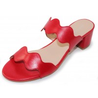 Patricia Green Women's Palm Beach In Red Leather