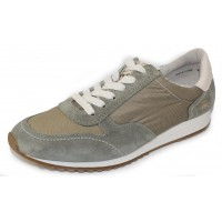 Paul Green Women's Davis Snkr In Hunter Ramon Soft Suede/Canvas