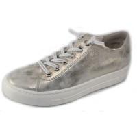 Paul Green Women's Hadley Sneaker In Mineral Metallic Antico Suede