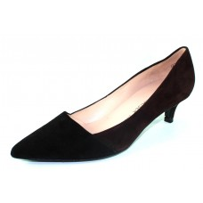 Peter Kaiser Women's Rello 39431 In Black/Nuba Brown Suede