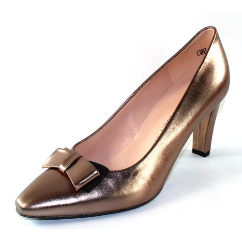 Peter Kaiser Women's Tabea 74457 In Bronze Metallic Kidskin Leather