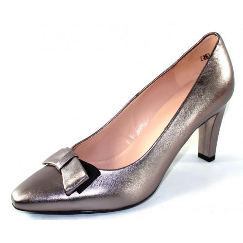 Peter Kaiser Women's Tabea 74457 In Pewter Metallic Kidskin Leather